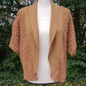 Nordstrom Collection Wool Shrug Camel Brown Large